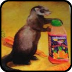 A print of Ferret Juice, by Kelly Lyles.