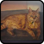 Painting of an Orange Cat