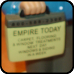 Empire Today Carpet Man Bobblehead Doll