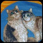 Glitter Cat Pillow Cover