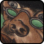 Close-up of Patrick's 'Dog's Playing Poker' shirt. I'm jealous.