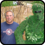 Michael from MOBA and an Elvis topiary
